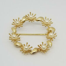 Pin Brooch Mother's Day Special Vintage 14Kt Yellow Gold Pearl