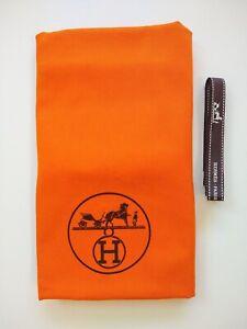 Long Orange Dust Bag with Draw Strings & Ribbon by HERMÈS - Paris