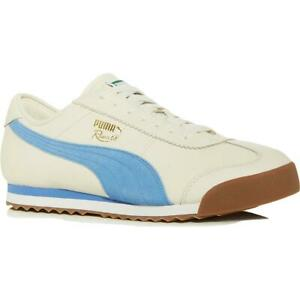 Puma Roma Leather Men's Retro Classic Fashion Sneaker Shoes White 02 Size 10.5