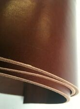 Vegetable tanned cow hide rich chestnut leather  130 cm x  Av 14 cm x 3.5 mm