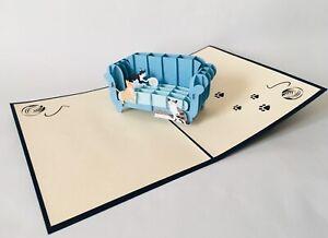 Katzen auf Sofa, 3D-Klappkarten, Pop-up Karten, Glückwunschkarte, Grußkarte,