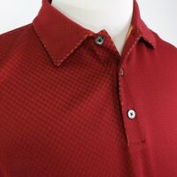 Nike Golf Mens Dri Fit Short Sleeve Collared Dark Red Orange Polo Shirt Size XL