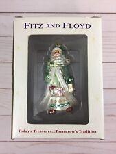 Fitz and Floyd Blown Glass Gregorian Santa Claus Ornament Old World Nib