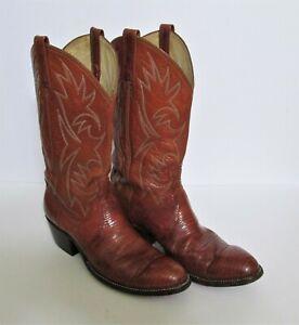 Mens Brown Leather Cowboy Boots 9.5 D