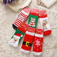 Kinder Baby Weihnachten warme Slipper Socken Stocking Filler Boys Girls Gift