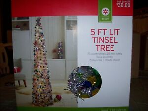 Multicolored Tinsel Christmas Tree 5ft Tall
