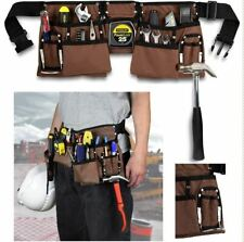"""11 Pocket Construction Tool Belt Work Apron Tool Pouch  Adjusts 33""""-52"""" Inches"""