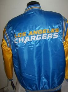 LOS ANGELES CHARGERS Starter Throwback Snap Down Jacket M XL 2X BLUE/YELLOW