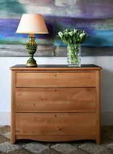 Early 20th Century Swedish Biedermeier Birch Bedroom Side Table Chest of Drawers