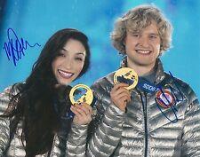 USA OLYMPICS MERYL DAVIS & CHARLIE WHITE Signed GOLD MEDAL Photo with COA
