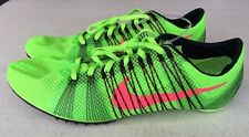 Nike Zoom Victory 2 Running Track Spikes Green 555365-306 US 12.5-New
