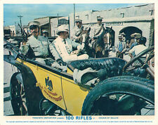 100 Rifles Original British Lobby card Fernando Lamas vintage motor car