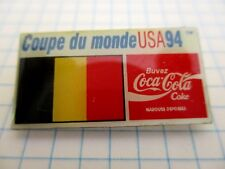 FLAG BELGIUM PIN BADGE DRAPEAU BELGIQUE CUP FOOT 94 COCA COLA VINTAGE PINS us4/3