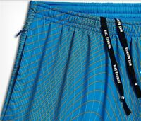 "Nike S Men's 7"" Distance Printed Dri Fit Running Shorts w Brief NEW 717966 435"