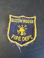 Vintage Obsolete Fire Department Patch Baton Rouge