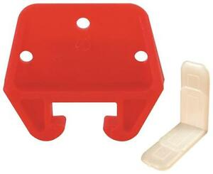 NEW PRIME LINE R 7082 PLASTIC DRAWER TRACK GUIDE KIT 25/32 1907211