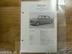 PE05-PEUGEOT TYPE 403 EN 404 MET BENZINE EN DIESEL MOTOR TECHNICAL INFO SEDAN CA