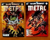 Dark Nights metal 6 2018  Greg Capullo Main Cover + Andy Kubert Variant DC NM+