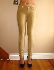 Seven 7 For All Mankind $198 Sueded Skinny Jeans Leggings Sand Beige 24 Fits 23