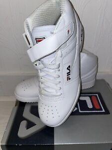 White Fila High Top  Leather Trainers Sneakers Men's UK 9 EU 43 US 10