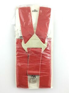 Vintage New Old Stock Mens Work Suspenders Size 38 Colour Red K915