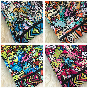 Ladies Women Cat Print Faux Silk Square Scarf Scarves Shawl Wrap Handbag Gift