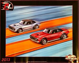 Hot Wheels 2013 Redline Club Poster 24 x 18 Camaros