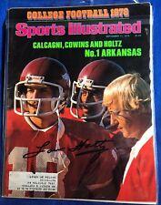 Lou Holtz Signed Sports Illustrated Magazine Autographed