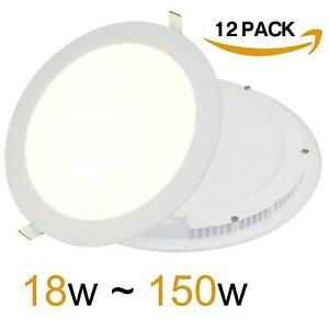 12 X 18W LED Ceiling Round Panel Light 225x225x13mm Ultra Slim Recessed Down
