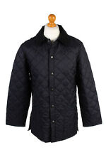 Vintage Barbour Quilted Jacket Mens Lidddesdale Outerwear Size S Navy - C1950
