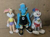 Vtg Space Jam Plush Lot of 3 -Blanko Monster / Lola Bunny, Bugs Bunny free ship