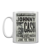 More details for johnny cash tea and coffee mug folsom state prison white