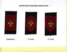 Boy Rover Scout Badges MEMBERSHIP + 1st + 2nd Class Awards QATAR