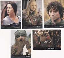 20 DIFFERENT LORD OF THE RINGS CARDS, 2004, THE RETURN OF THE KING, NICE LOT 6.