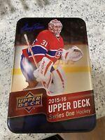2015-2016 Upper Deck Series 1 Hockey Tin. Opened. Random NHL. Sidney Crosby