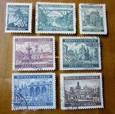 EBS Bohemia & Moravia Böhmen & Mähren 1940 Definitives Michel 55-61 Used