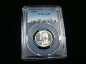 1943-S Washington Silver Quarter PCGS Graded MS63 #42193961