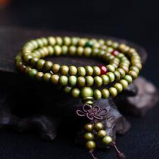 6mm Olive Sandalwood Buddhist Tibetan Wood Prayer Beads Multi-layer Bracelet
