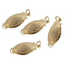 Free Ship Jewelry Findings One Strand Yellow Gold Filled Hollow Fish Hook Clasps