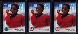 Simone Biles - 2016 Topps Olympic Rookie/RC #38 -  3 card lot - 2 base/1 Silver