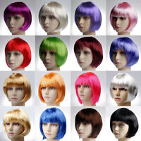 19 Colors New Fashion Women Girls BOB Short Straight Party Cosplay Full Wigs