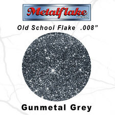 METAL FLAKE AUTO GUNMETAL GLITTER (0.008) CUSTOM PAINT FLAKES 30GRAM 1OZ SILVER