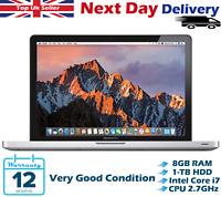 """Apple Macbook Pro 13.3"""" Intel Core i7 2.70GHz 8GB RAM 1TB HDD A1278 High Sierra"""