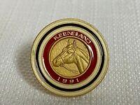 Vintage 1991 Keeneland Club Member Lapel Pin Horse Racing Breeders Cup #87 Rare