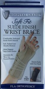 Soft Fit Suede Wrist Brace Splint Support Wrap Pain Injured Sports Guard S Right