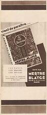 Y8588 MESTRE & BLATGE' - Vient da paraitre... - Pubblicità d'epoca - 1933 Old ad