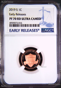 2019 S Proof LINCOLN CENT Shield Penny NGC PF70 ULTRA CAMEO RD Early Releases