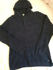 Bench. Multipurpose City Clothing Women's navy knit button up Sweatshirt Medium
