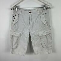 Industrie Mens Cargo Shorts 32 Grey Pockets