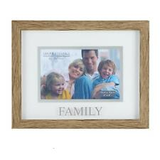 Juliana Natural Wood Effect Plastic Frame with Silver Word - Family